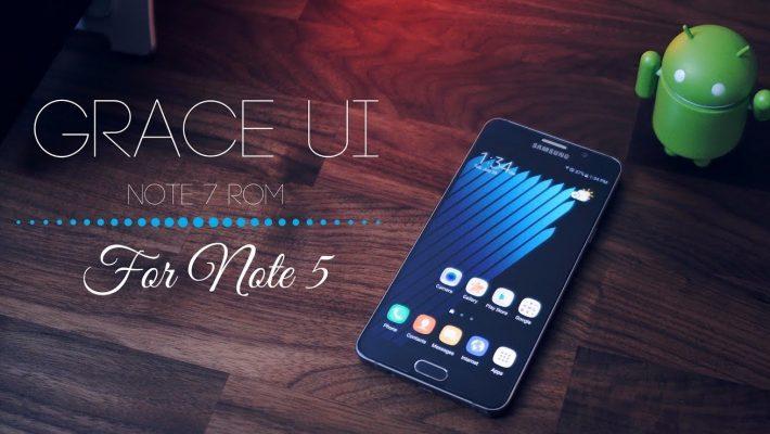 Galaxy Note 5 și Grace UX